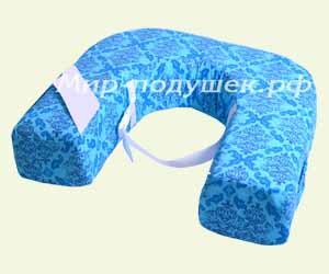 Голубой принт