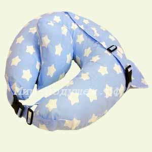 Подушка для кормления Звезды на голубом